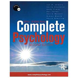 Complete Psychology: Volume 1 2nd Edition BY Graham Davey  (Author),‎ Christopher Sterling (Author),‎ Andy Field (Author),‎ Chris Sterling (Editor),‎ Ian Albery (Editor)