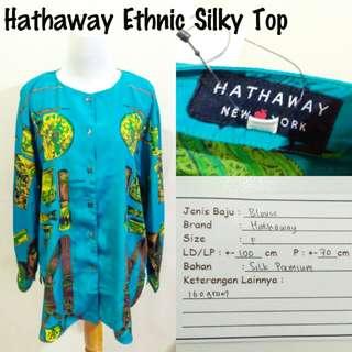 Hathaway Ethnic Silky Top | Pakaian Wanita | Atasan Import