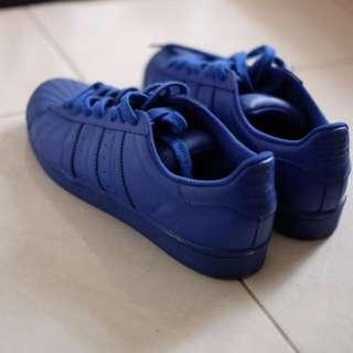 Adidas Super Color Original ( blue ) Baru 3 kali pake. Lengkap