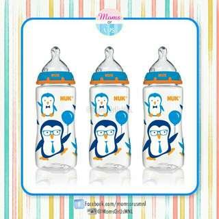 ‼️RESTOCK‼️NUK® Orthodontic Bottles 3s (10oz) BLUE PENGUIN