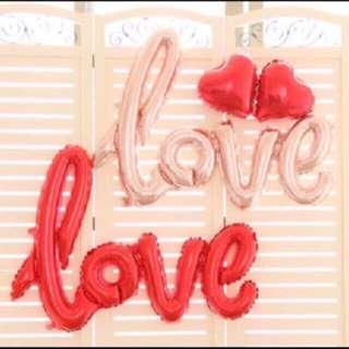 Rose Gold Love Balloon Set