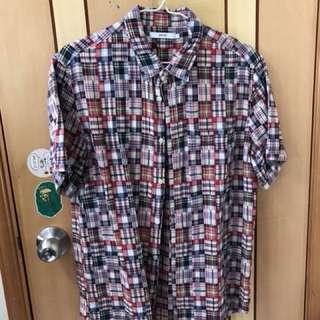 [中古] Graniph Design Tshirt Store Patchwork Shirt 短袖 恤衫 百家布