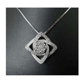 【D-W 香港鑽石世界】全新18K白金 64份 天然鑽石吊咀 --- 006100A-63