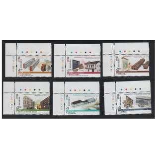 香港 2013年 「活化香港歷史建築」郵票帶角位紙邊及色標 (面值$16.1)