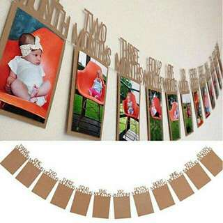 Baby 12 months hanging photo frame