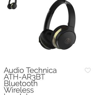 Audio technica ATH-AR3BT wireless Bluetooth headphone