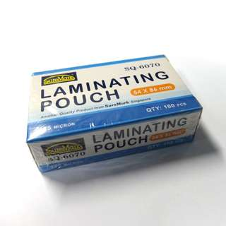 SureMark New Laminating Pouch 54x86mm (100 pcs) [Code: SQ-6070]
