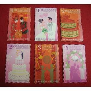 香港 2013年 「中西婚嫁習俗」郵票(面值$16.1, 可作郵資使用)