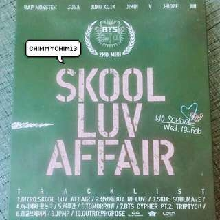 [Free Postage] BTS Skool Luv Affair