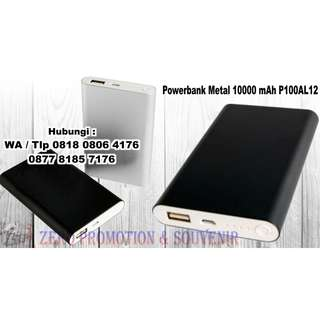 Souvenir Power Bank Metal 8000 mAh kode P80AL14