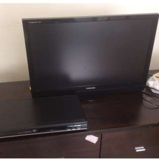 Toshiba 21 in TV and DVD player
