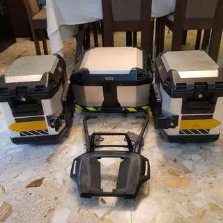Hepco explorer aluminium top and side box