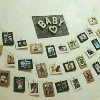 Photo frame hanging
