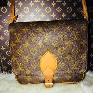 Authentic Vintage Louis Vuitton Cartouchiere PM Monogram Leather