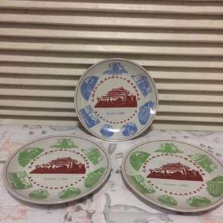 Vintage 3pc Lucky China Small Plates
