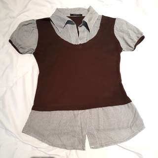 Up Town Girl Brown Top