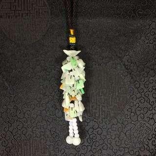 Cny special - Type A Burmese Jade Jadeite Keychain 碎碎平安 🙌🏻