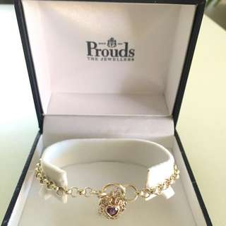 Never worn Prouds silver bracelet