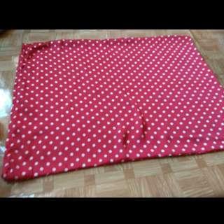 全新波點紅白枕袋