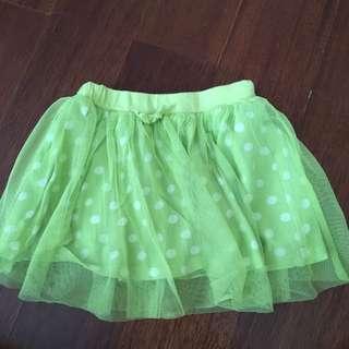 Uniqlo rok tutu hijau sz 80cm/11kg