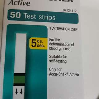 ACCU-CHEK active 50 Strips - Blood Glucose Testing