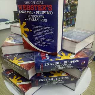 Webster English - Filipino Dictionary with Thesaurus