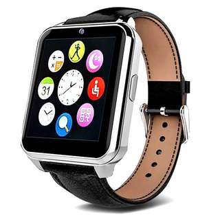 W90 Bluetooth Smart Watch SIM TF Cards Men Luxury Leather Business Smartwatch Knight Full View HD Screen for IOS Android Phones