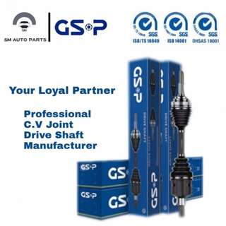 GSP DRIVE SHAFT FOR ALL CAR MODELS. PLEASE CALL 014-3386630 (EDDY) FOR MORE INFO.
