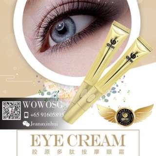 Wowo Collagen Eye Cream with massager