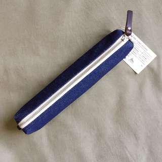 Handcrafted Indigo Denim Selvedge Pencil Case