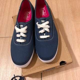 原價1890 Keds海軍藍厚底帆布鞋