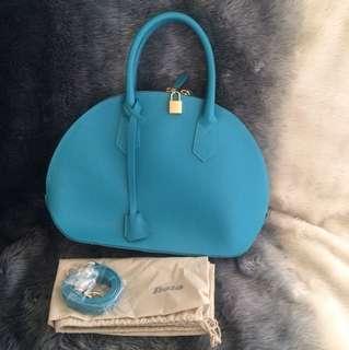 Brand new leather turquoise handbag