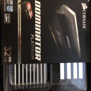 Corsair Dominator Platinum 32GB (4x8) with LED fan