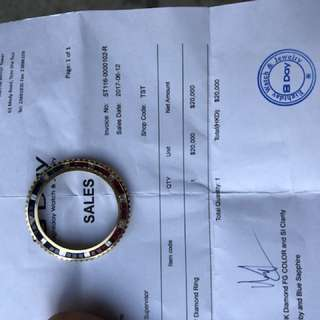 18k Diamond & ruby bezen Rolex GMT