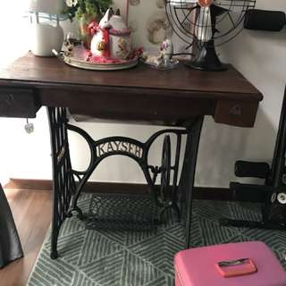 Antique Sewing Machine converted into table