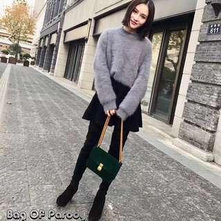 Bag of parody 大dp 果凍鍊帶絲絨包