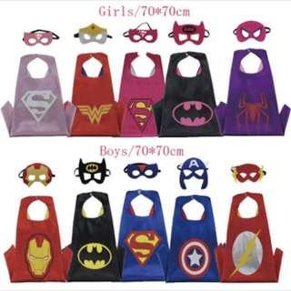 Superhero kids cape