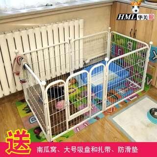 中型狗 狗籠子 小狗栅欄 室内寵物栅欄 160*80*80六片装 白色