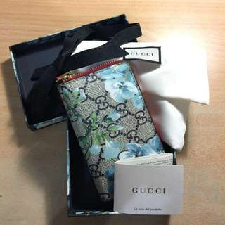 Gucci Limited Edition Blue Blooms Cardholder