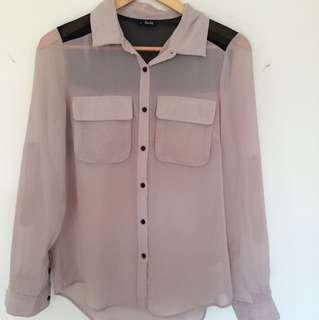 Bardot loose shirt blouse size 8-12