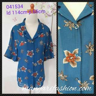 Blouse second import kode 041534