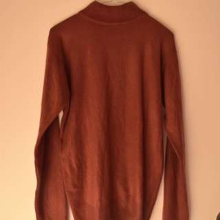 Red Mock Neck Knit