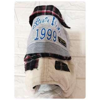 冬季 連身式衣服 狗狗保暖衣  小型幼犬