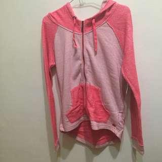 ROXY 粉紅色連帽外套 hoodie pink 帽T 外套