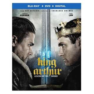 🎁 King Arthur: Legend of the Sword Blu Ray + DVD
