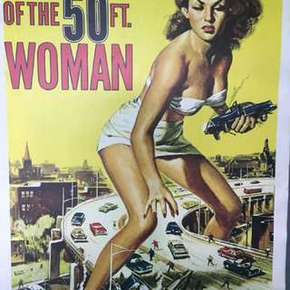 "Attack of the 50ft foot  woman 1958 27"" x 41"" with line 28.5@ x43"