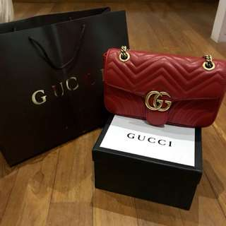 Premium Gucci Marmont red