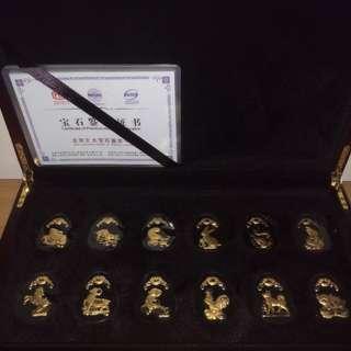 12生肖玉鑲金