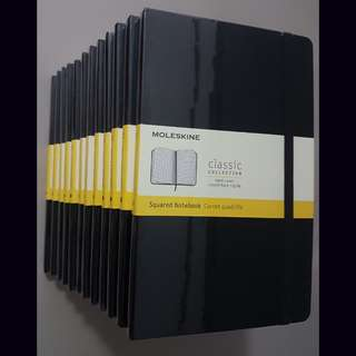 Moleskine large journal notebook plain, ruled or squared pages. Brand new, guaranteed authentic! Going at 24sgd each