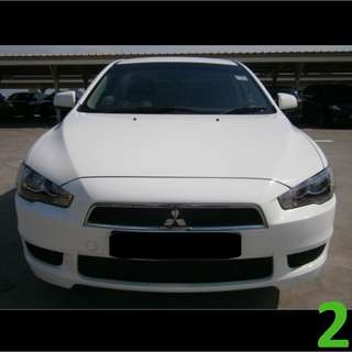 $230 Weekend Car Rental Mitsubishi Lancer EX 1.5A